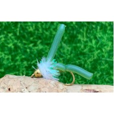 GH Squirmy Olive Worm White Collar
