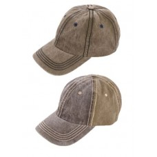 Washed out Look Baseball Cap Adults - 2 colours