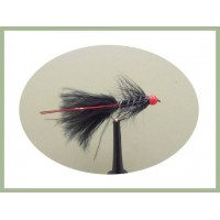 Barbless Hothead Flash Damsel - Black/Red