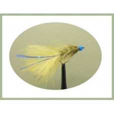 Barbless Hothead Flash Damsel - Olive/Blue