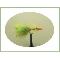 Barbless Hothead Flash Damsel - Olive/Red