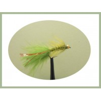 Barbless GH Olive Red Flash Damsel