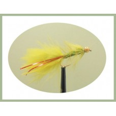 Goldhead Flash Damsel - Olive/Red