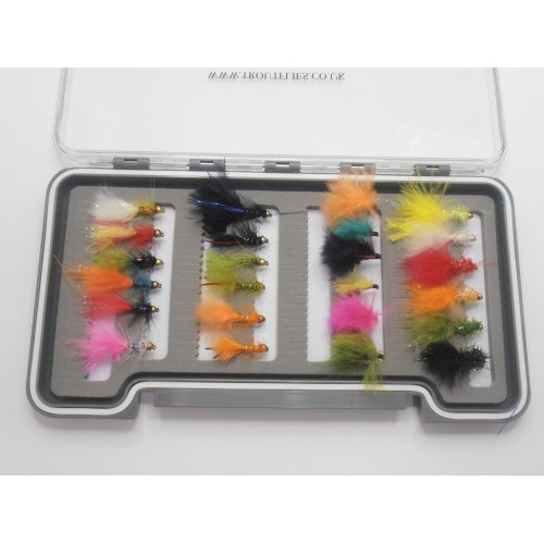 Flash Damsels Trout Flies Mini Lures Cats Whiskers Mini Dancers 18 Pack