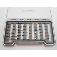 48  Buzzer and Nymph Flies Boxed Set