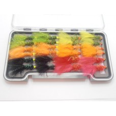 24 Hothead Lures, Red Beads and Lime Double Beads - Boxed Set