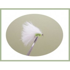 Mini Cats Whiskers - White & Green Chenille