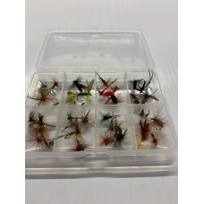 40 Dry Flies - Compartment Pocket Box
