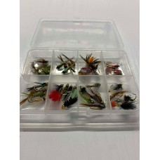 40 Goldhead and Tungsten Nymph Flies - Compartment Pocket Box