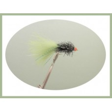 Ally McCoist UV Olive Fly Fishing Flies Set of 3 Black Fritz Lure size 8
