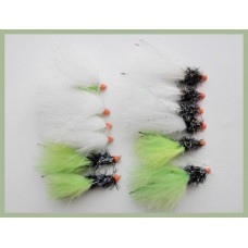 12 Barred Leg Hotheads - Lime, White, Cats