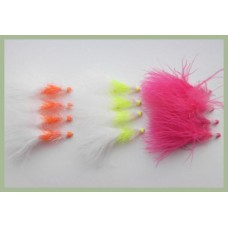 12 Two Tone Hotheads Fritz - Orange, Pink, Chartreuse