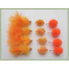 12 Orange Blobs & Eggs (Fritz and Chenille)
