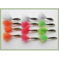 12 Epoxy Minnow - Natural, Lime, Orange & Red