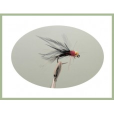 Barbless Black Red Holo Jig