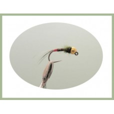 Barbless Olive Red Tag  Jig