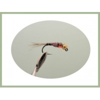 Barbless Red Hothead  Jig