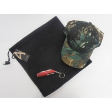 3 for £10 - Thermal Neck Warmer (Snood), Camo Cap and a Pocket Knife Multi Tool