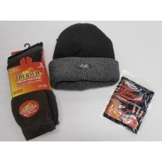 3 for £10 - Thermal Socks, Beanie Hat and Hand Warmers
