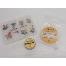 3 for £10 -Fluorocarbon, Ledasink, 24 Flies in a Comp Box