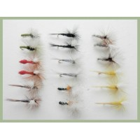 18 Parachute Dry Flies - 8 varieties