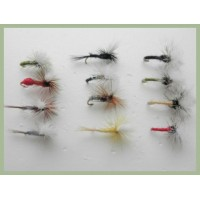 12 Parachute Dries - Inc Hares Ear, Cahill, Terrys and KLINKS