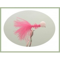 Barbless Long Shank Pink Booby