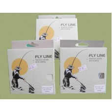 Three pack of Troutflies Fly line with Backing attached