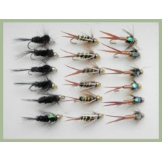 18 Goldhead Flies, Montana, Copper John & Prince