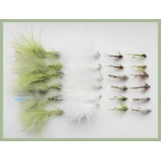 24 Winter Top Sellers - Olive Damsels, Cats, GH Nymphs, Tungsten Nymphs