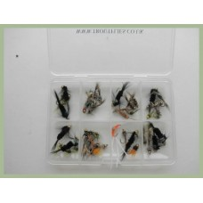 One Off Special - 50 Mixed Goldhead Nymphs, Compartment box
