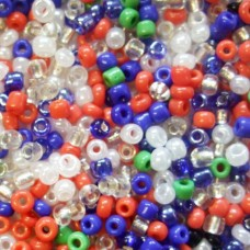 Glass Beads - mix colours - TURRALL 3.3MM
