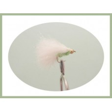 Goldhead Mini Cats Whiskers - White & Green Chenille