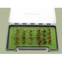 24 Daddy Long Legs Flies in a Large Troutflies Silicone Insert Box