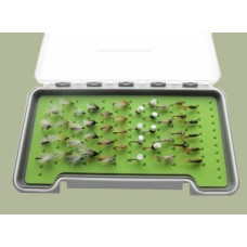 45 Mixed Flies in a Troutflies -  LARGE Silicone Insert Boxx