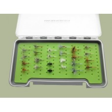 24 Dry Flies in a Large Troutflies Silicone Insert Box