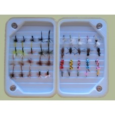 40 Dry Flies in a Lightweight Foam Box