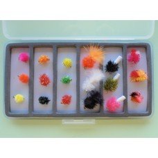 18 Egg and Blob Flies Slimline Box Set