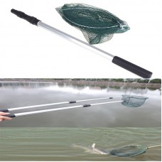 2 in1 Telescopic lightweight Fishing Folding Micro Mesh Landing Net