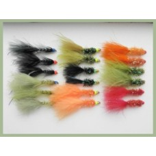 18 Hothead Lures - Flash, Red Bead and Lime Double Bead