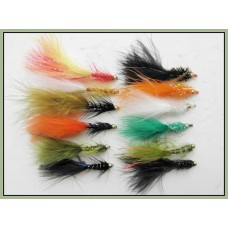 12 Mixed Lure,Dancer,Nomad & Flash Damsels