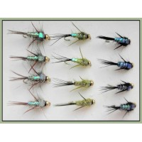 12 Goldhead Nymph - Evil Weevil 3 Colours