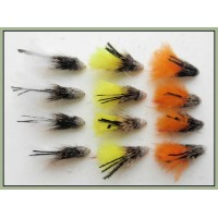 12 Marabou Muddler - Orange,White & Yellow