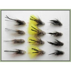 12 Marabou Muddler - White,Natural & Yellow