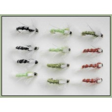 12 Poly Ribbed Buzzer - Mixed Colours