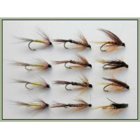 12 Wet Flies - Dunkeld, Pheasant Tail & Tupps