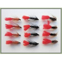 12 Wet Flies - Zulu,Red Tag, Soldier Palmer