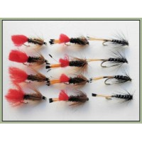 12 Wet Flies - Ke he, Red tag & Black Pennell