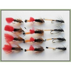 12 Wet Flies - Ke-he, Red tag & Black Pennell