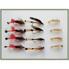12 Wet Flies - Ke-he,Grenadier,Grouse & Orange
